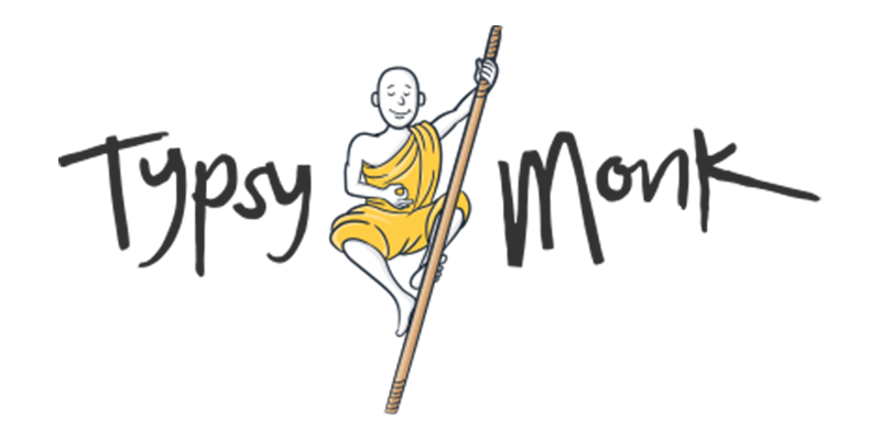 Tipsy Monk - Black Text
